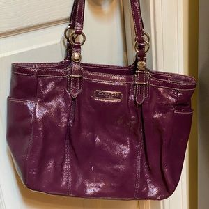 Authentic Coach Purple Patent Leather purse